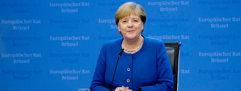 Blog over Angela Merkel met portret van haar
