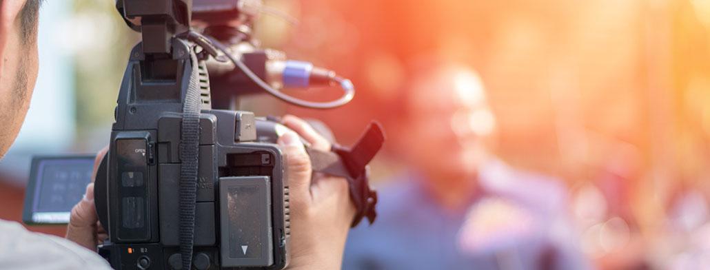 mediatraining met een professionele camera en crew