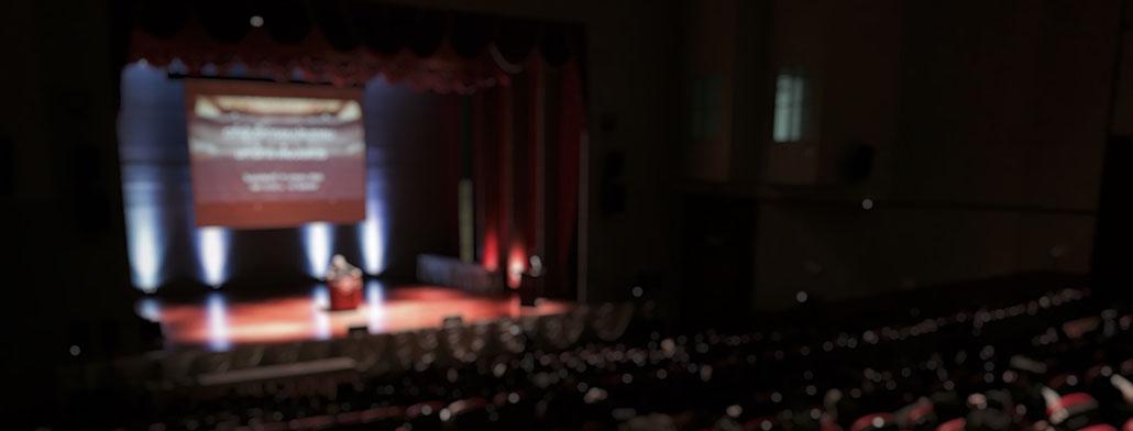 presentatietechnieken in een zaal